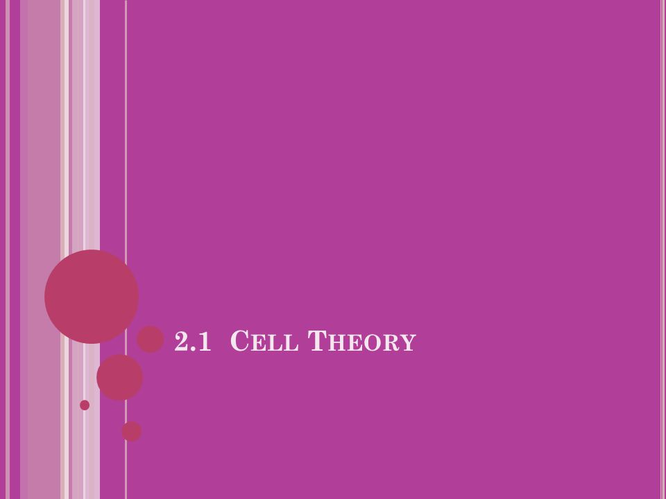 2.1 Cell Theory