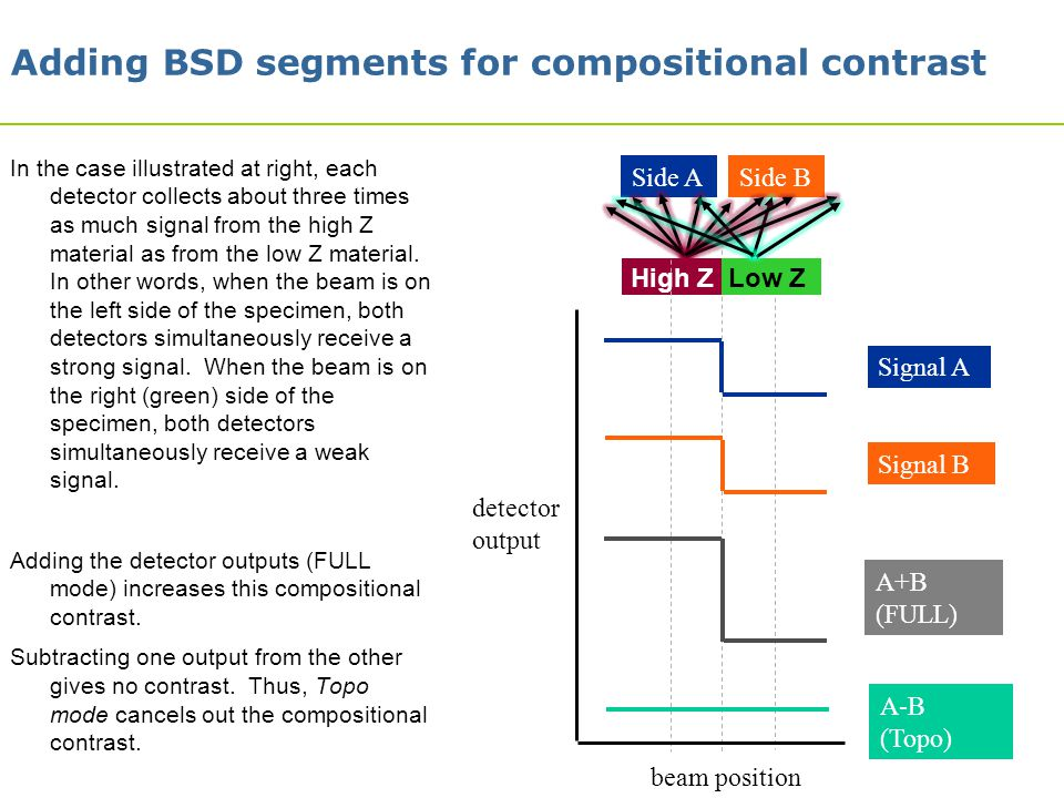 Adding BSD segments for compositional contrast