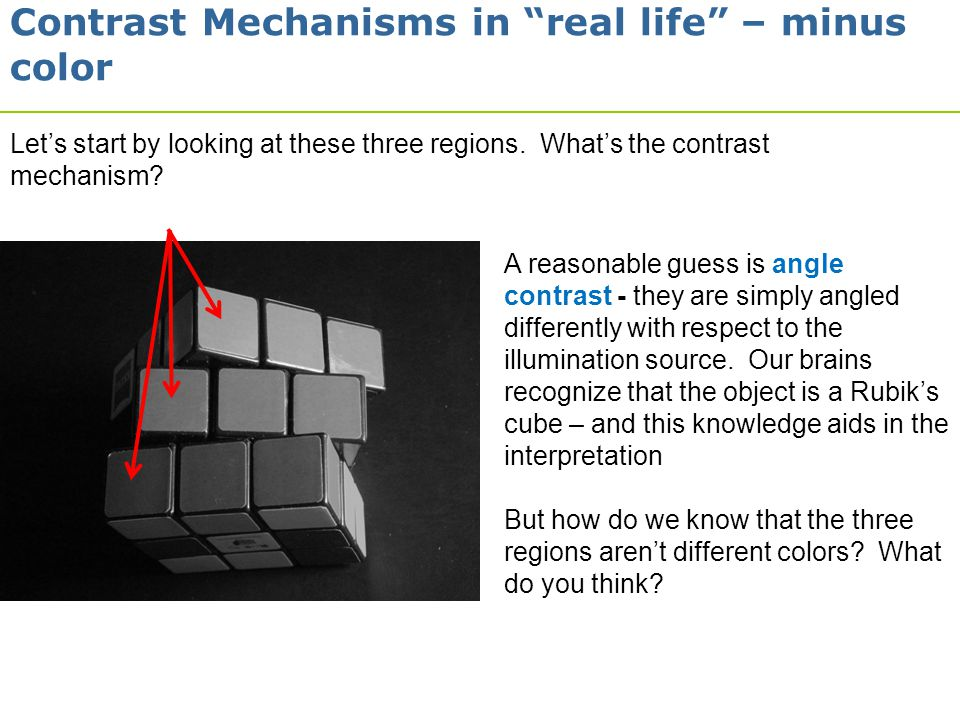 Contrast Mechanisms in real life – minus color