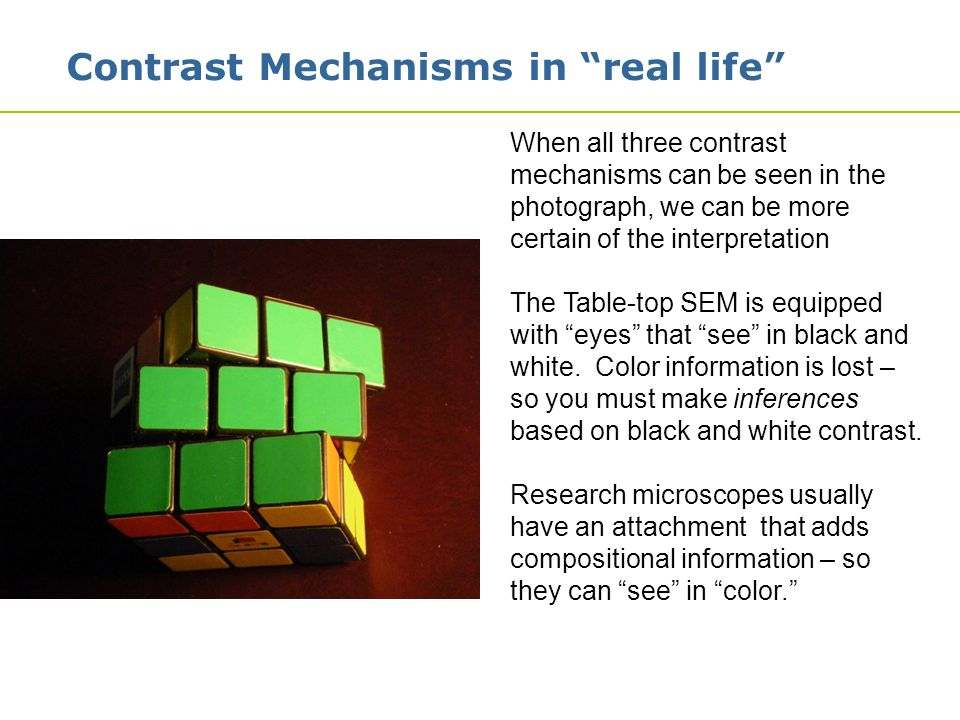 Contrast Mechanisms in real life