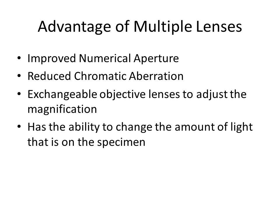 Advantage of Multiple Lenses