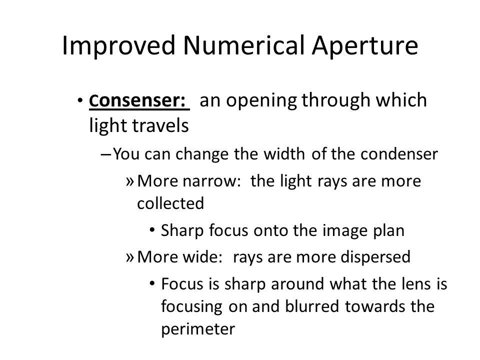 Improved Numerical Aperture