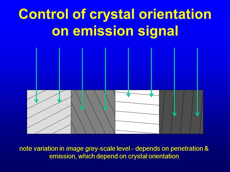 Control of crystal orientation on emission signal