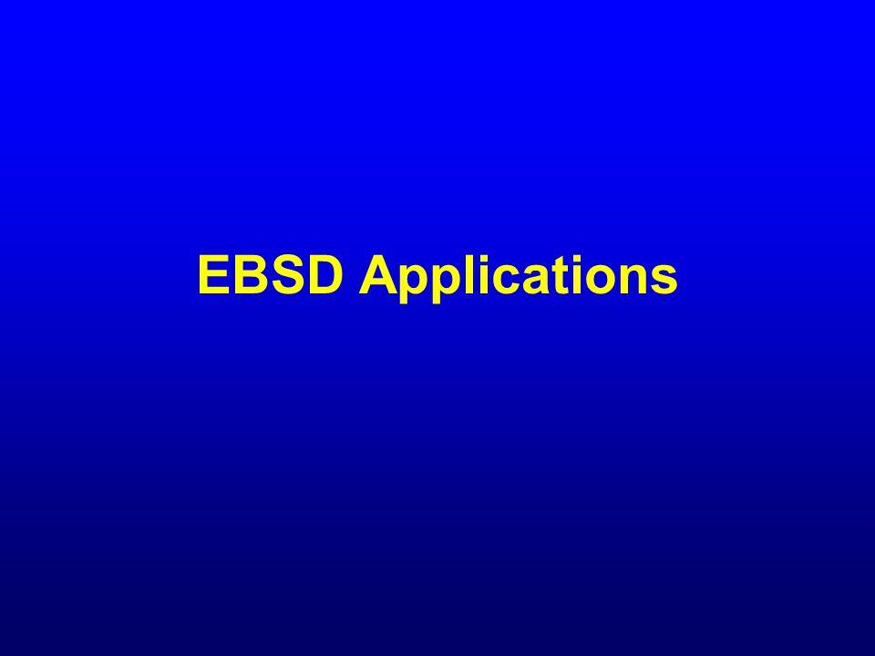 EBSD Applications