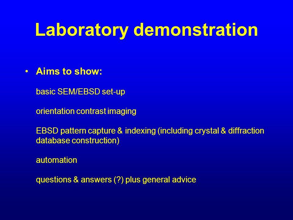 Laboratory demonstration