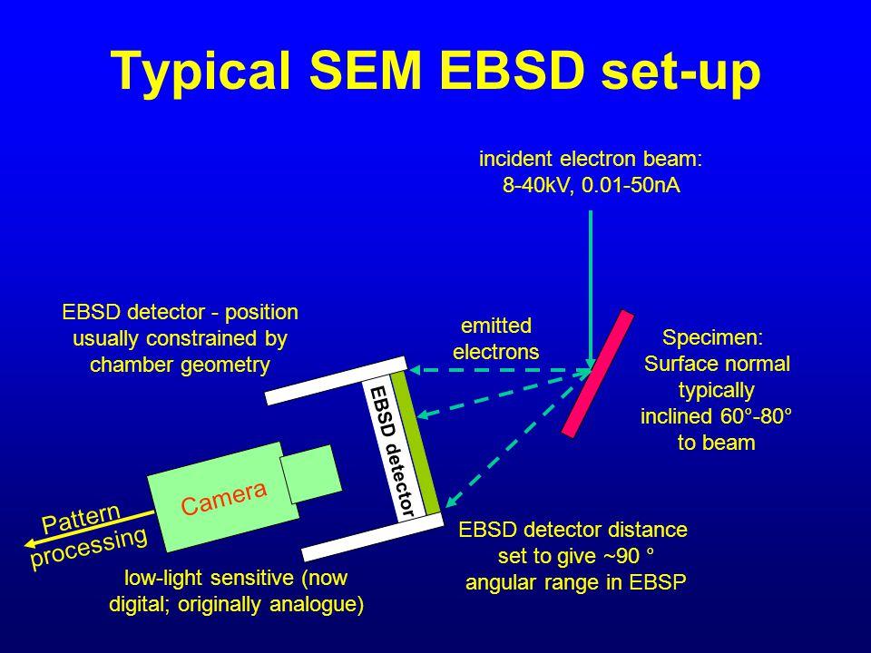 Typical SEM EBSD set-up