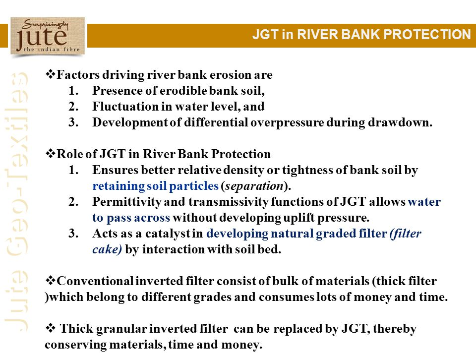 JGT in RIVER BANK PROTECTION