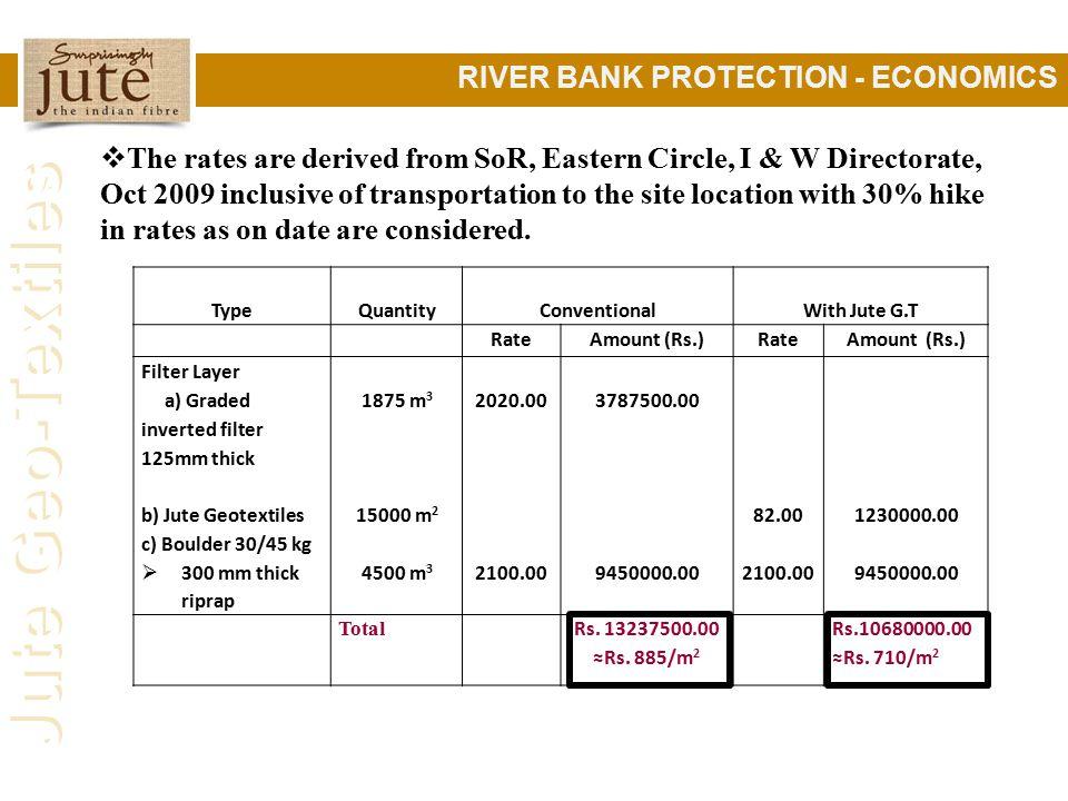 RIVER BANK PROTECTION - ECONOMICS