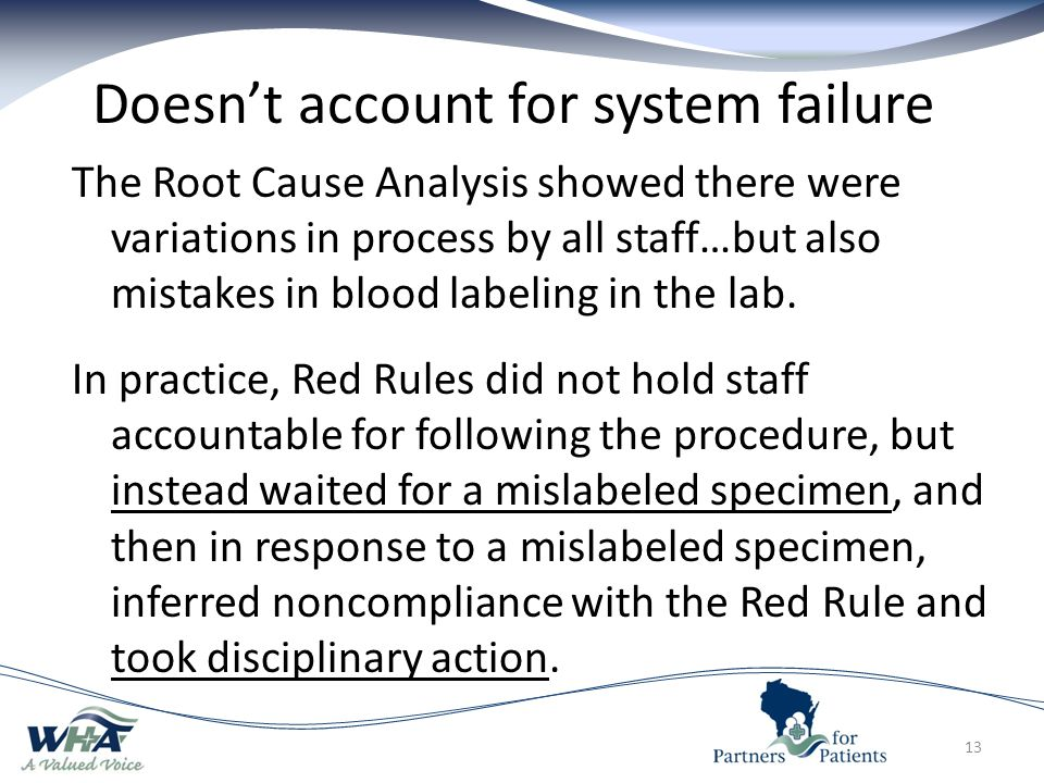 Doesn't account for system failure