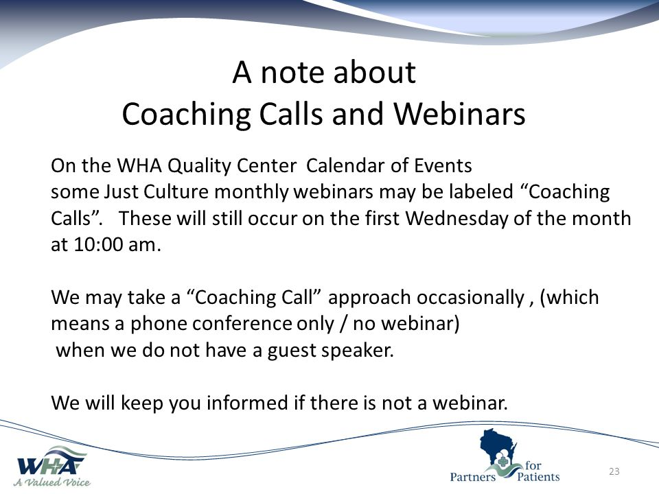 A note about Coaching Calls and Webinars