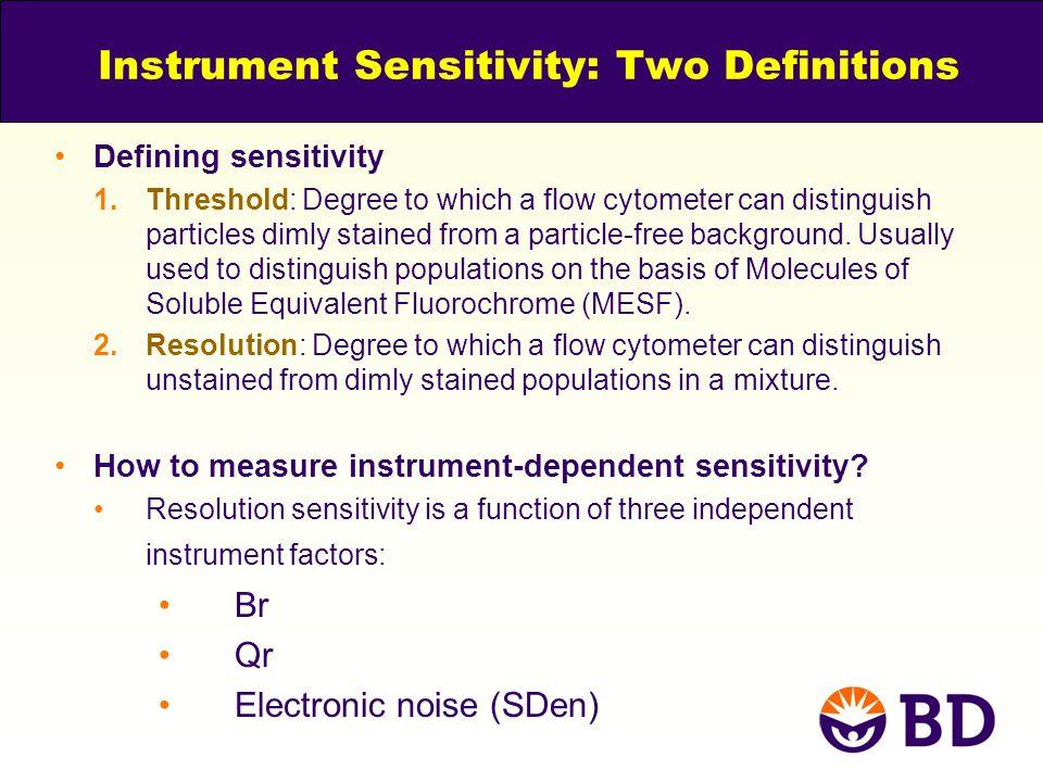 Instrument Sensitivity: Two Definitions