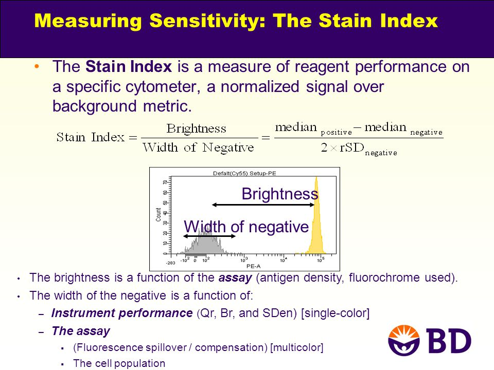 Measuring Sensitivity: The Stain Index