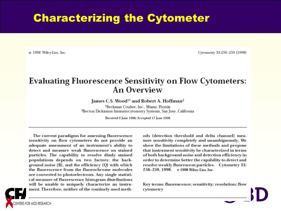 Characterizing the Cytometer