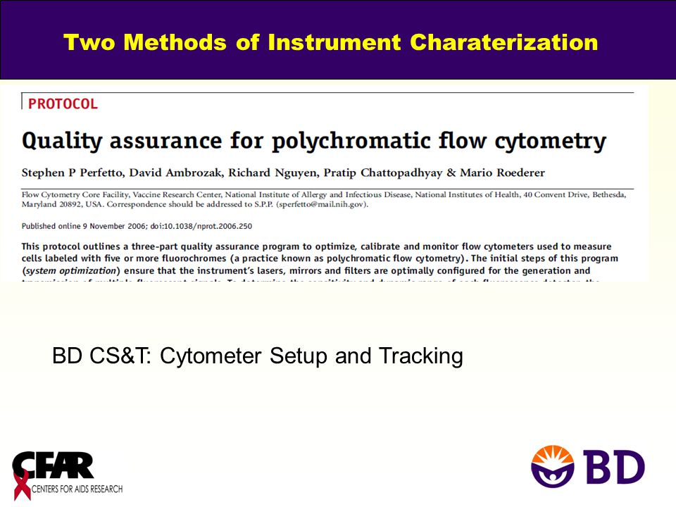 Two Methods of Instrument Charaterization