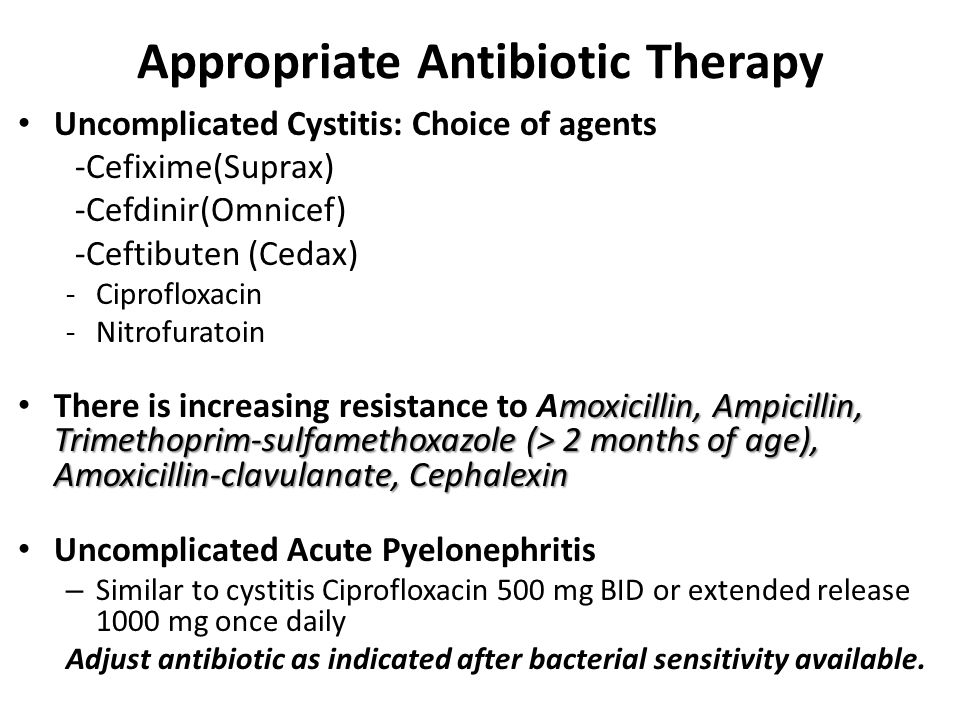 Appropriate Antibiotic Therapy