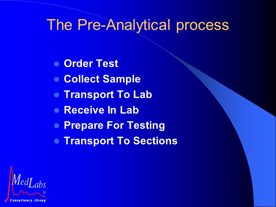 The Pre-Analytical process