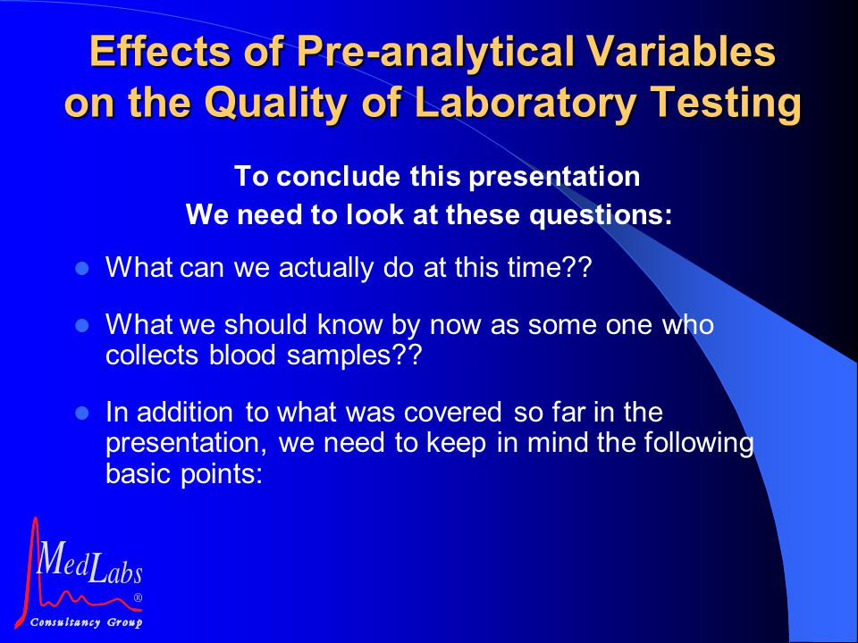 To conclude this presentation We need to look at these questions: