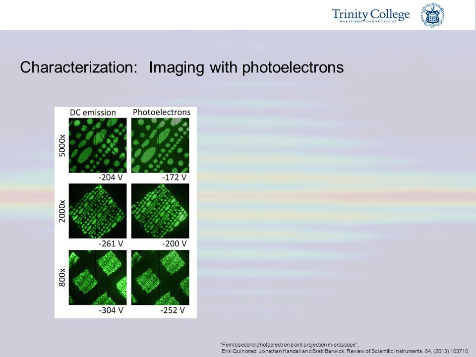 Characterization: Imaging with photoelectrons