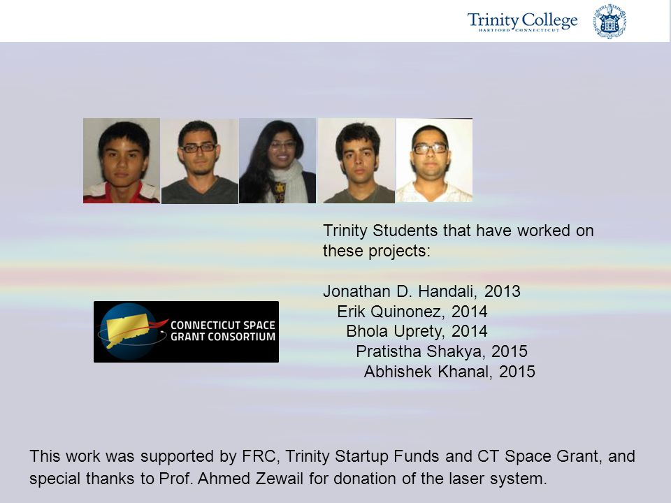 Trinity Students that have worked on