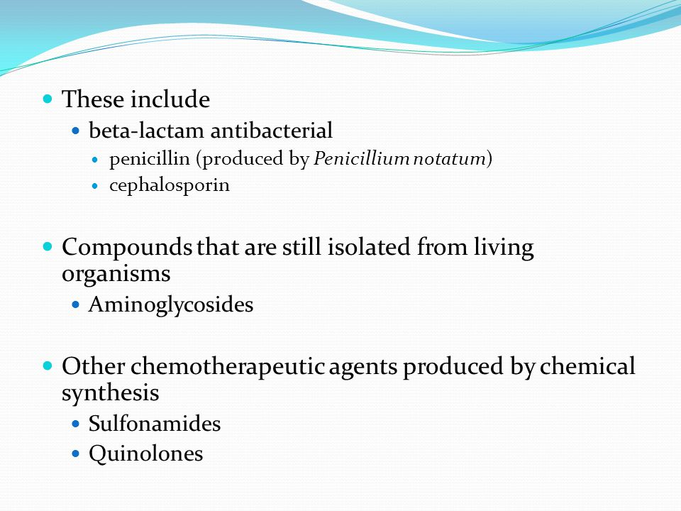 Compounds that are still isolated from living organisms