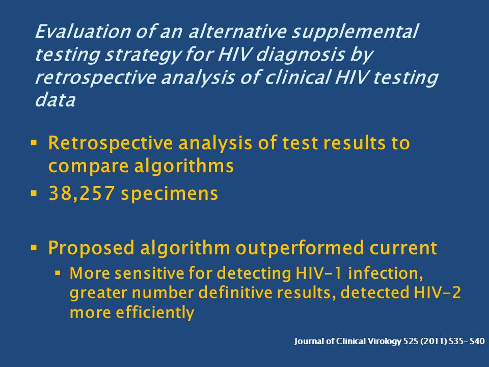 Retrospective analysis of test results to compare algorithms