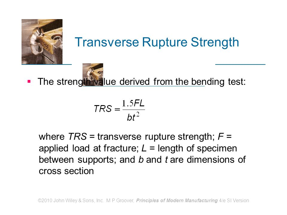 Transverse Rupture Strength