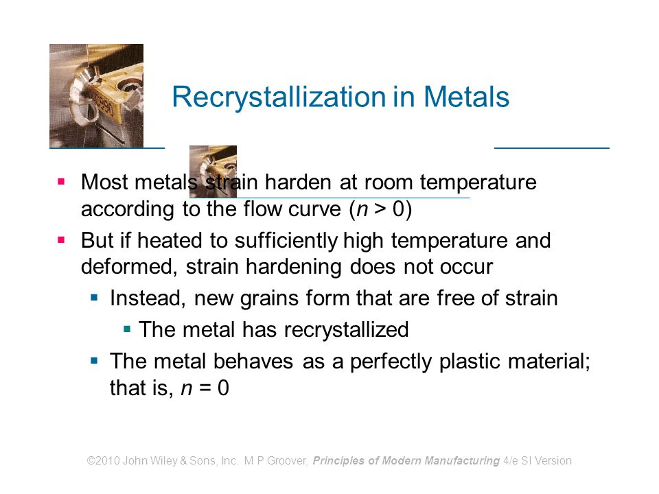 Recrystallization in Metals