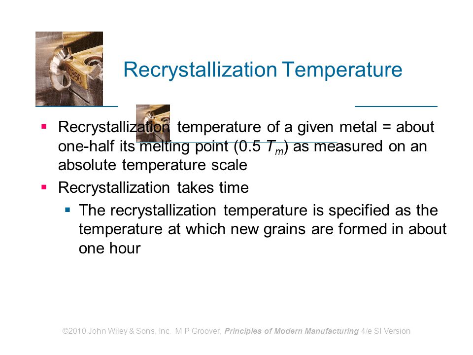 Recrystallization Temperature