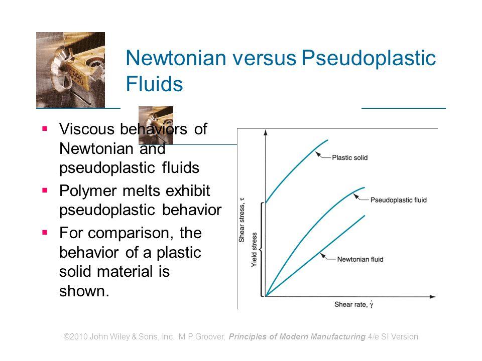 Newtonian versus Pseudoplastic Fluids