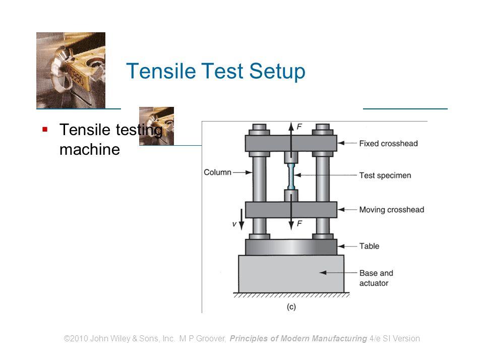 Tensile Test Setup Tensile testing machine