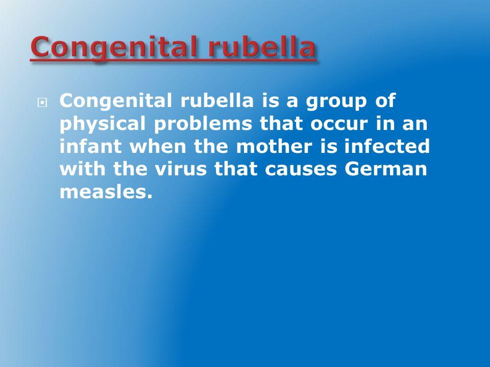 Congenital rubella