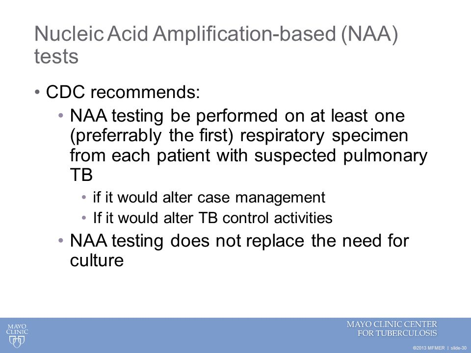 Nucleic Acid Amplification-based (NAA) tests