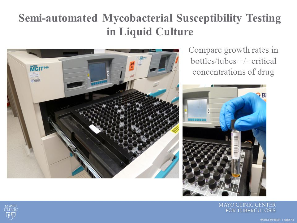 Semi-automated Mycobacterial Susceptibility Testing in Liquid Culture