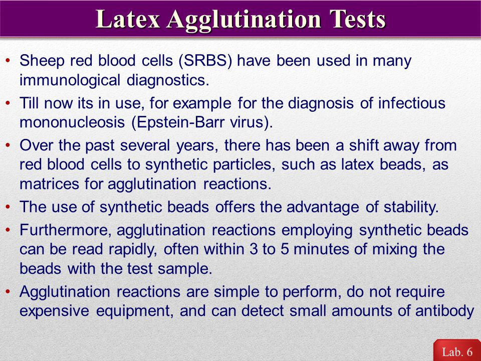 Latex Agglutination Tests