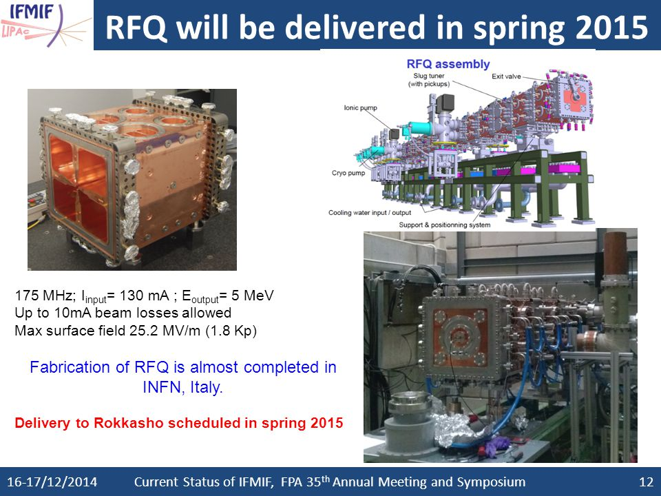 RFQ will be delivered in spring 2015 2015