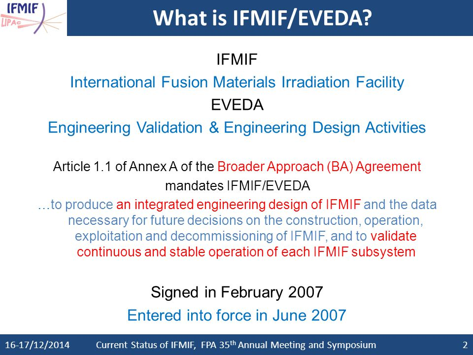 What is IFMIF/EVEDA IFMIF