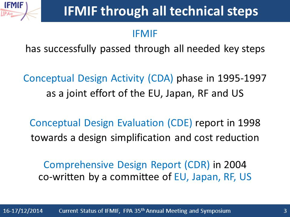 IFMIF through all technical steps