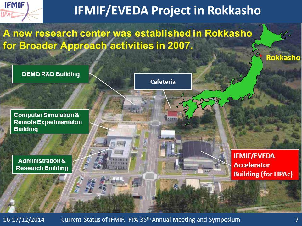IFMIF/EVEDA Project in Rokkasho
