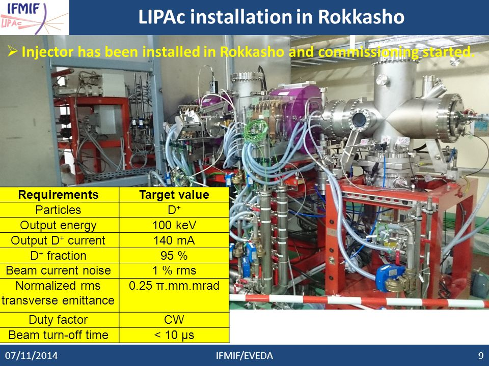 LIPAc installation in Rokkasho