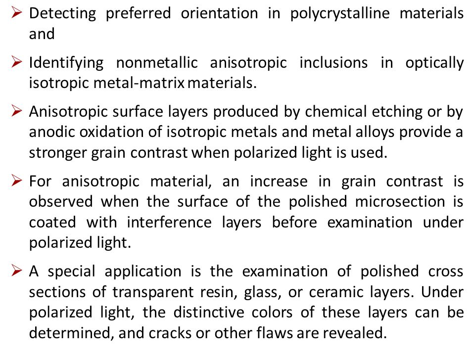 Detecting preferred orientation in polycrystalline materials and