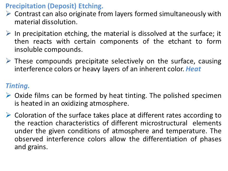 Precipitation (Deposit) Etching.