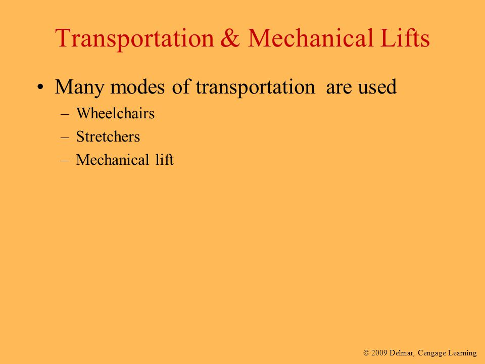 Transportation & Mechanical Lifts
