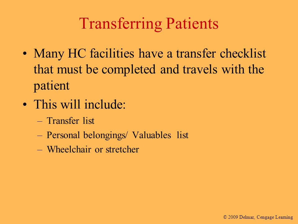 Transferring Patients