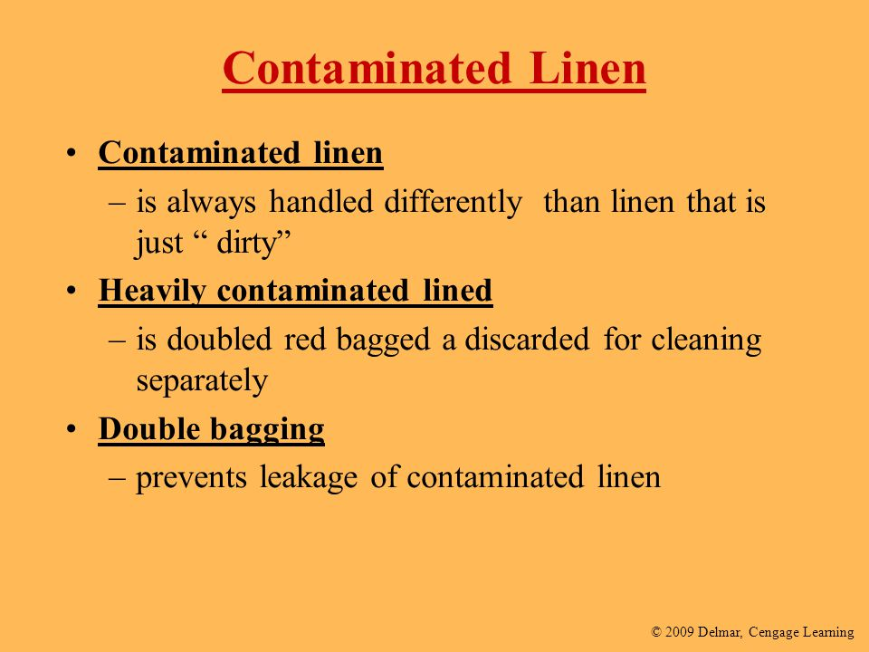 Contaminated Linen Contaminated linen