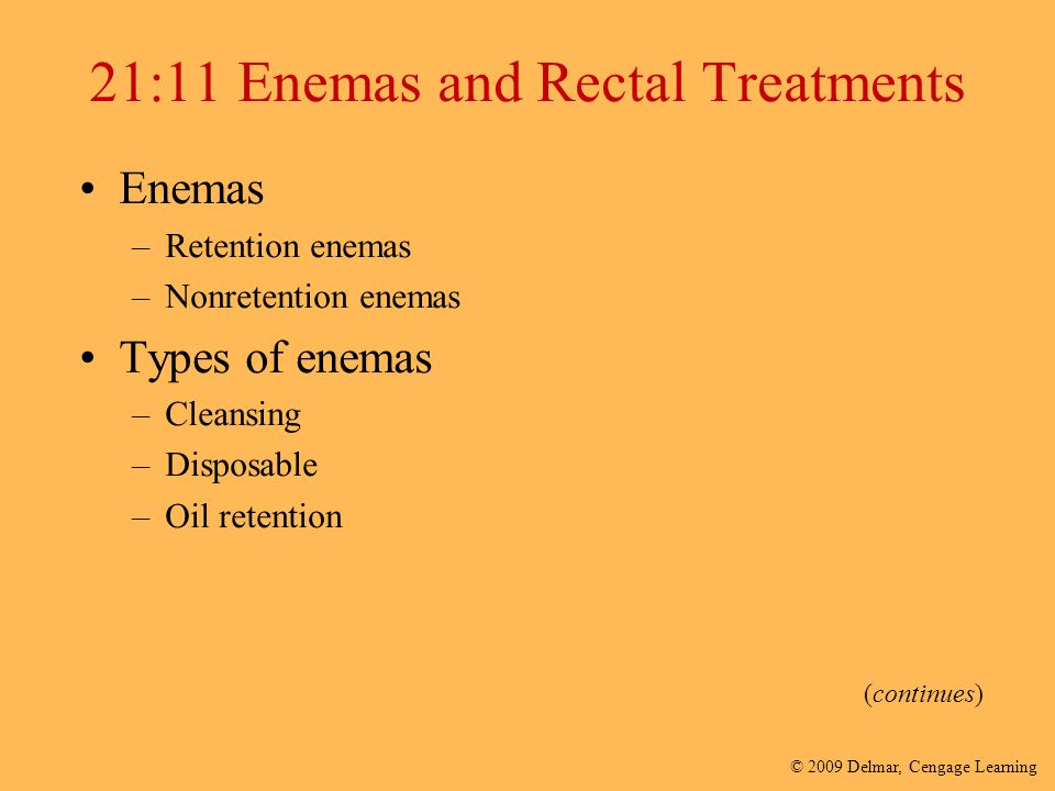 21:11 Enemas and Rectal Treatments