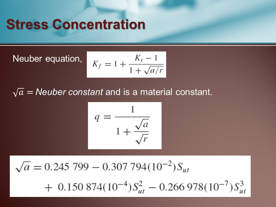 Stress Concentration Neuber equation,