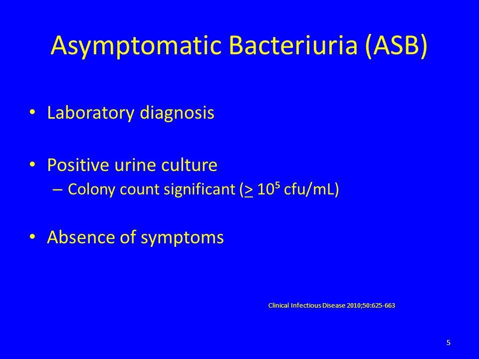 Asymptomatic Bacteriuria (ASB)
