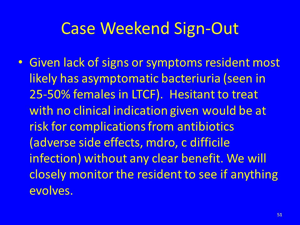 Case Weekend Sign-Out