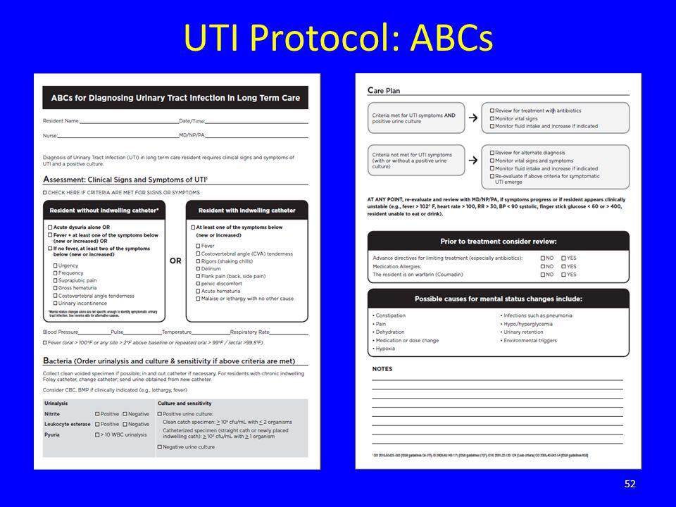 UTI Protocol: ABCs
