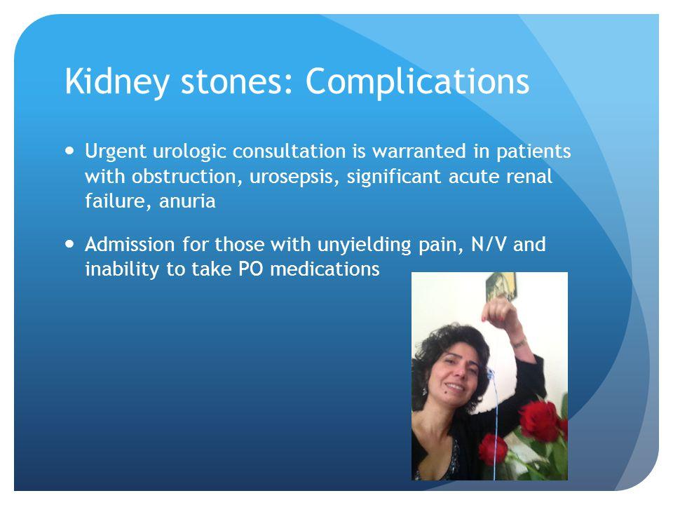 Kidney stones: Complications